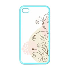Flower Simple Pink Apple Iphone 4 Case (color) by Mariart