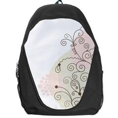 Flower Simple Pink Backpack Bag by Mariart