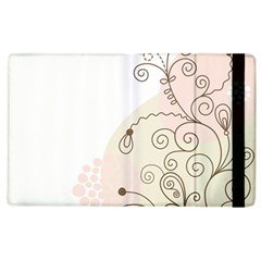 Flower Simple Pink Apple Ipad 3/4 Flip Case by Mariart