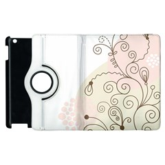 Flower Simple Pink Apple Ipad 2 Flip 360 Case by Mariart