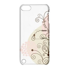 Flower Simple Pink Apple Ipod Touch 5 Hardshell Case With Stand by Mariart