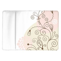 Flower Simple Pink Samsung Galaxy Tab 10 1  P7500 Flip Case by Mariart