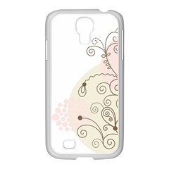 Flower Simple Pink Samsung Galaxy S4 I9500/ I9505 Case (white) by Mariart