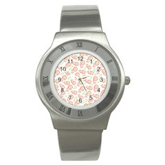 Flower Rose Red Green Sunflower Star Stainless Steel Watch by Mariart