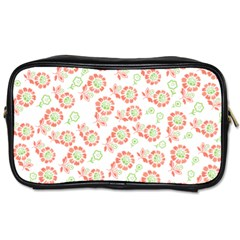 Flower Rose Red Green Sunflower Star Toiletries Bags 2 Side by Mariart