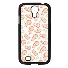 Flower Rose Red Green Sunflower Star Samsung Galaxy S4 I9500/ I9505 Case (black) by Mariart