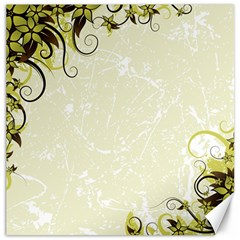 Flower Star Floral Green Camuflage Leaf Frame Canvas 16  X 16   by Mariart