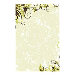 Flower Star Floral Green Camuflage Leaf Frame Shower Curtain 48  X 72  (small)  by Mariart