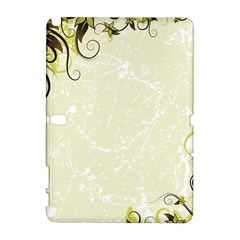Flower Star Floral Green Camuflage Leaf Frame Galaxy Note 1 by Mariart