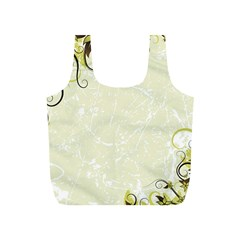 Flower Star Floral Green Camuflage Leaf Frame Full Print Recycle Bags (s)  by Mariart