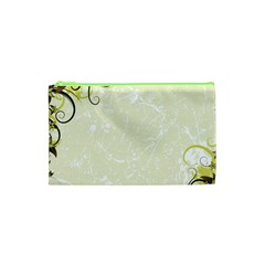 Flower Star Floral Green Camuflage Leaf Frame Cosmetic Bag (xs) by Mariart