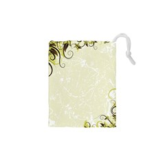 Flower Star Floral Green Camuflage Leaf Frame Drawstring Pouches (xs)  by Mariart