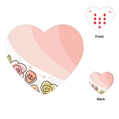 Flower Sunflower Wave Waves Pink Playing Cards (heart)  by Mariart