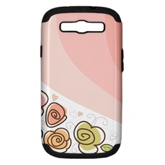 Flower Sunflower Wave Waves Pink Samsung Galaxy S Iii Hardshell Case (pc+silicone) by Mariart