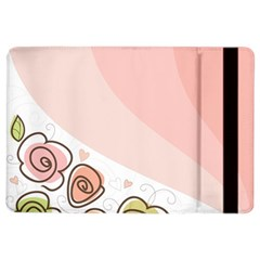 Flower Sunflower Wave Waves Pink Ipad Air 2 Flip by Mariart