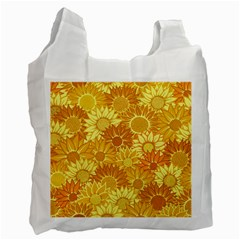 Flower Sunflower Floral Beauty Sexy Recycle Bag (two Side)  by Mariart