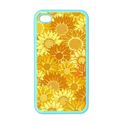 Flower Sunflower Floral Beauty Sexy Apple Iphone 4 Case (color) by Mariart
