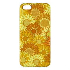 Flower Sunflower Floral Beauty Sexy Apple Iphone 5 Premium Hardshell Case by Mariart