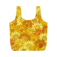 Flower Sunflower Floral Beauty Sexy Full Print Recycle Bags (m)  by Mariart