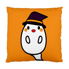 Halloween Ghost Orange Standard Cushion Case (one Side) by Mariart