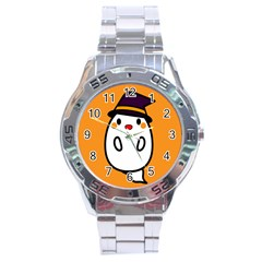 Halloween Ghost Orange Stainless Steel Analogue Watch by Mariart