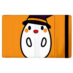 Halloween Ghost Orange Apple Ipad 2 Flip Case by Mariart