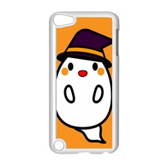 Halloween Ghost Orange Apple Ipod Touch 5 Case (white) by Mariart