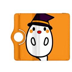 Halloween Ghost Orange Kindle Fire Hdx 8 9  Flip 360 Case by Mariart