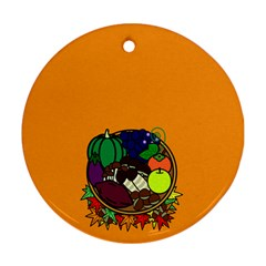Healthy Vegetables Food Ornament (round) by Mariart