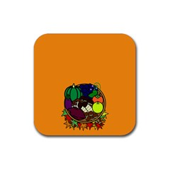 Healthy Vegetables Food Rubber Square Coaster (4 Pack)  by Mariart