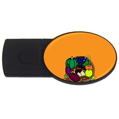 Healthy Vegetables Food Usb Flash Drive Oval (2 Gb) by Mariart