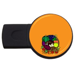 Healthy Vegetables Food Usb Flash Drive Round (4 Gb) by Mariart