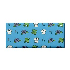 Frog Ghost Rain Flower Green Animals Cosmetic Storage Cases by Mariart