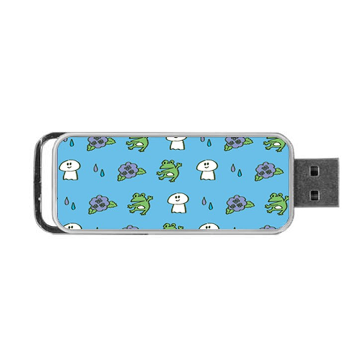 Frog Ghost Rain Flower Green Animals Portable USB Flash (Two Sides)