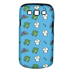 Frog Ghost Rain Flower Green Animals Samsung Galaxy S Iii Classic Hardshell Case (pc+silicone) by Mariart