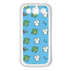 Frog Ghost Rain Flower Green Animals Samsung Galaxy S3 Back Case (white) by Mariart