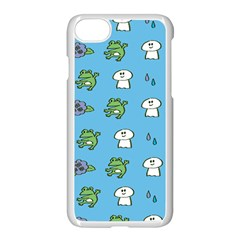 Frog Ghost Rain Flower Green Animals Apple Iphone 7 Seamless Case (white) by Mariart