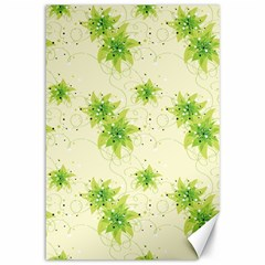 Leaf Green Star Beauty Canvas 12  X 18   by Mariart