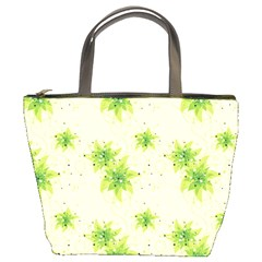 Leaf Green Star Beauty Bucket Bags by Mariart