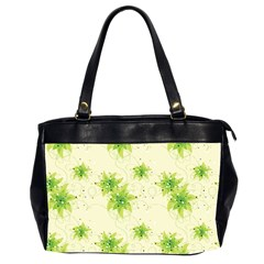 Leaf Green Star Beauty Office Handbags (2 Sides)  by Mariart