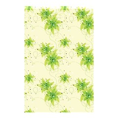 Leaf Green Star Beauty Shower Curtain 48  X 72  (small)  by Mariart
