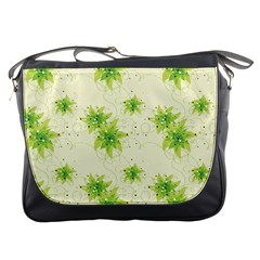 Leaf Green Star Beauty Messenger Bags by Mariart