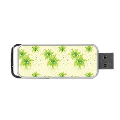 Leaf Green Star Beauty Portable Usb Flash (one Side) by Mariart