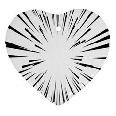 Line Black Sun Arrow Ornament (heart) by Mariart
