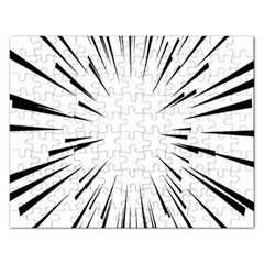 Line Black Sun Arrow Rectangular Jigsaw Puzzl by Mariart