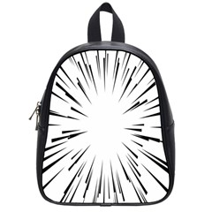 Line Black Sun Arrow School Bag (small) by Mariart