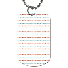 Line Polka Dots Blue Red Sexy Dog Tag (one Side) by Mariart