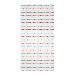 Line Polka Dots Blue Red Sexy Shower Curtain 36  X 72  (stall)  by Mariart