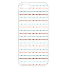 Line Polka Dots Blue Red Sexy Apple Iphone 5 Seamless Case (white) by Mariart