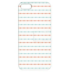 Line Polka Dots Blue Red Sexy Apple Iphone 5 Hardshell Case With Stand by Mariart
